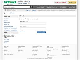 Platt gift card balance check