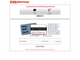 CVS Pharmacy gift card balance check