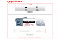 CVS Select gift card balance check
