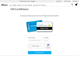 Rainbow Shops gift card balance check