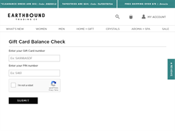 Earthbound Trading gift card balance check