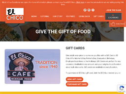 El Chico Cafe gift card purchase