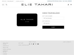 Elie Tahari gift card balance check