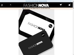Fashion Nova gift card purchase