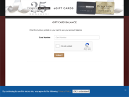 Rusty Bucket gift card balance check