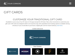 Four Corners Tavern Group gift card purchase
