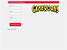 Game Works gift card balance check