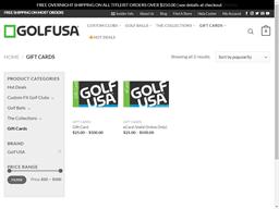 Golf USA gift card purchase