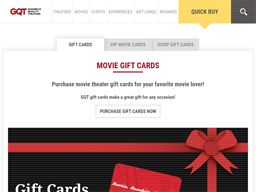 Goodrich Quality Theaters gift card purchase