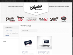 Shula's gift card purchase