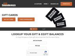 Smashburger gift card balance check