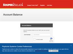 Souper Salad gift card balance check
