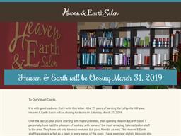 Heaven and Earth Salon shopping