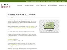 Heinen's gift card purchase