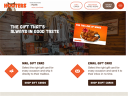 Hooters gift card purchase