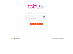 TCBY gift card balance check