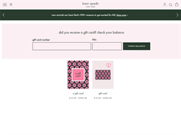 Jack Spade gift card purchase