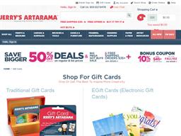 Jerry's Artarama gift card purchase
