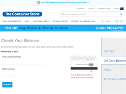 The Container Store gift card balance check