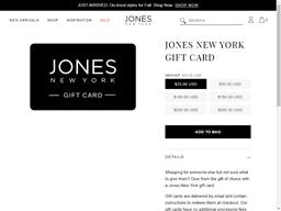 Jones New York gift card purchase