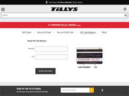 Tilly's gift card balance check
