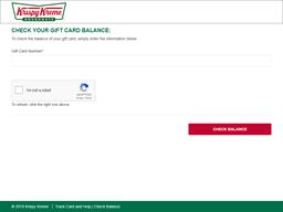 Krispy Kreme gift card balance check