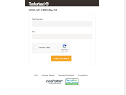 Timberland gift card balance check