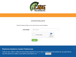 Lime Fresh Mexican Grill gift card balance check