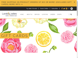 Lords & Ladies Salons gift card purchase
