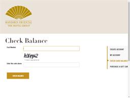 Mandarin Hotel Group gift card balance check
