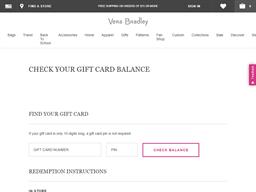 Vera Bradley gift card purchase