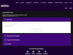 Megaplex Theatres | Gift Card Balance Check