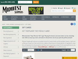 Midwest Supplies gift card purchase