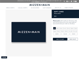 Mizzen and Main gift card purchase