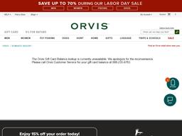 Orvis gift card balance check