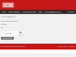 Barbeques Galore gift card balance check
