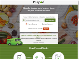 Peapod Grocery shopping