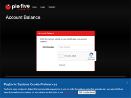 Pie Five Pizza gift card balance check