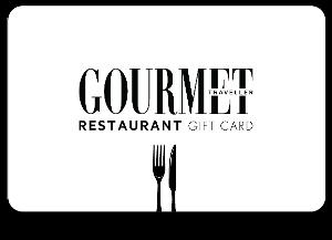 Gourmet Traveller Restaurant Digital gift card design and art work