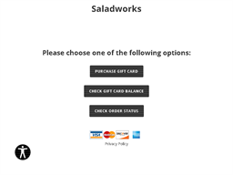 Saladworks gift card purchase