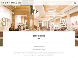 Scott Miller gift card purchase