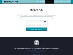 Seasalt Del Mar gift card balance check