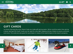 Seven Springs gift card purchase