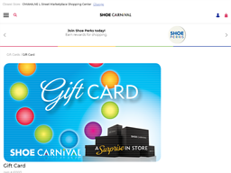 Shoe Carnival gift card purchase