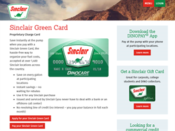 Sinclair Oil gift card purchase