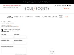 Sole Society gift card balance check