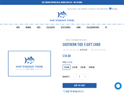 Southern Tide gift card purchase