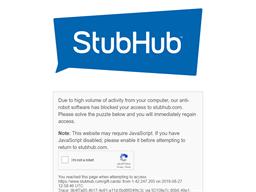 Stub Hub gift card purchase