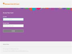 Ultimate Kids gift card balance check