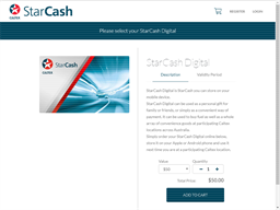Caltex StarCash Digital gift card purchase